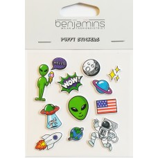 Benjamins - Puffy Stickers (space)