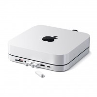 Satechi - Type-C Aluminum Stand & Hub for Mac Mini (silver)